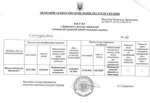 Витяг Держкомзем